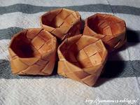 針山用の籠製作中 - ロシアから白樺細工