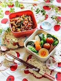 ダブル炭水化物弁当といちご酵母とユキヤナギ♪ - ☆Happy time☆