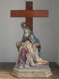 ピエタ像 哀れみの聖母マリアとイエスキリスト高68cm /E948 - Glicinia 古道具店