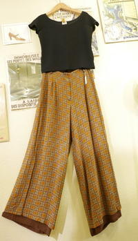 print wide pants - carboots