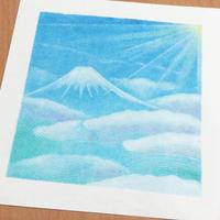 飛行機から見下ろす富士山 - アトリエ絵くぼの創作日誌