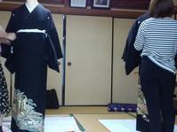 留め袖の試験中です。 - 佐賀県鳥栖市 向日葵和装☆着付け教室☆ 出張着付