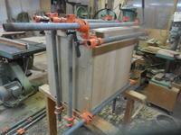モザイクキャビネットの組み立て - 手作り家具工房の記録