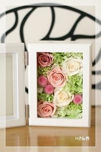 フォトフレームギフト*レッスン - Flower letters