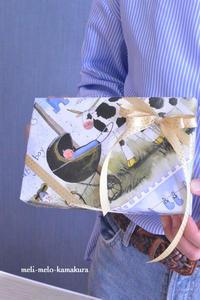 ◆【レッスンレポート】難しいけど面白い!ななめ包みの特訓 - フランス雑貨とデコパージュ&ギフトラッピング教室 『meli-melo鎌倉』