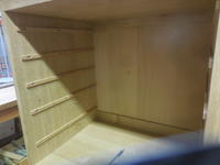 モザイクキャビネットの摺り桟 - 手作り家具工房の記録