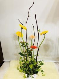 ガーベラのアレンジ☆ - Flower Days ~yucco*のフラワーレッスン&プリザーブドフラワー~