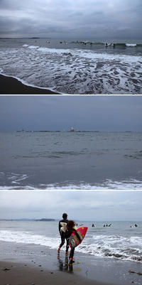 2018/04/05(THU) 風波に乗る朝練サーファー。 - SURF RESEARCH