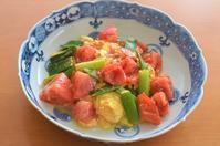 トマトと葱の卵炒め/トマトピーラー - まほろば日記