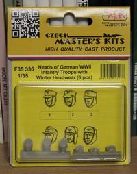 CMK F35336 Heads of German WW2 Infantry Troops with Winter Headwear (6 pcs) - 押出鋲二郎日記