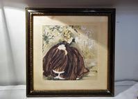 水彩画「貴婦人」 - スペイン・バルセロナ・アンティーク gyu's shop