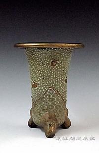 西端楽鉢(古い三河鉢)No.1866 - 東洋蘭風来記奥部屋