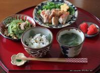 ガーリックチキンとゴーヤーちゃん(๑¯﹃¯๑)♪ - **  mana's Kitchen **