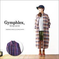 Gymphlex [ジムフレックス] MADRAS CHECK L/S LONG SHIRTS [J-1280BGM] チェックロングシャツ/シャツワンピース LADY'S - refalt blog