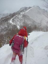 春の冬山登山???…貝月山 - 山にでかける日