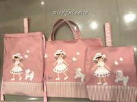 ピンク色の入学用品 - puffsleeve