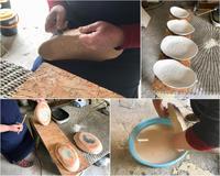 タタラ作りのカレー皿 - 陶工房スタジオ ル・ポット