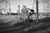 逢魔が時に不安げなコンビナートの自転車 - Film&Gasoline