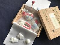 2018 春夏の会「落雁で作る、手のひらのお裁縫箱」 - 落雁と季節の会