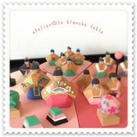 ☆ ひな人形 ☆ - 長野県松本市 カルトナージュ教室  Atelier ☆ la blanche table