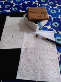 今日から刺繍教室に戻ります。 - ささやかな刺繍生活