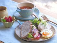 カンパーニュの朝ごはん - 陶器通販・益子焼 雑貨手作り陶器のサイトショップ 木のねのブログ