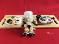 犬のコックさんの編みぐるみ - ミトン☆愛犬 編みぐるみ Maronyのアトリエ