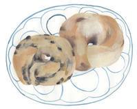 今日の絵「フルーツたっぷりベーグル」 - vogelhaus note