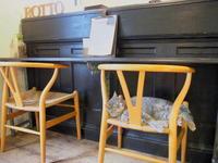 スフレチーズケーキとカフェラテ:Antique & Cafe ROTTO(弘前市) - 津軽ジェンヌのcafe日記
