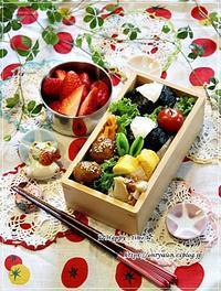 肉団子の甘酢餡弁当とタケノコたっぷり青椒肉絲♪ - ☆Happy time☆