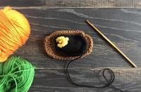 ハンバーグの編みぐるみ 途中経過 - ミトン☆愛犬 編みぐるみ Maronyのアトリエ