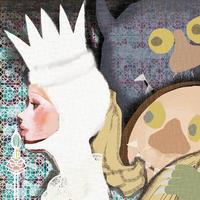 モーリスセンダックオマージュ作品、他ダイニングMEAT LABで展示 - まゆみん MAYUMIN Illustration Arts