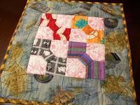 ボータイのミニタペストリー - eri-quilt日記3