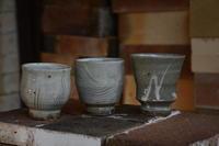 湯呑茶盌 櫛描/筒描 - やきものをつくろう  生畑皿山窯