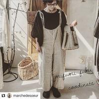 リエールキャミサロペット リボンタイプ 素敵な着こなしで - MIFUMI*  Petite Couture Rie