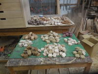 モザイクキャビネット の モザイク材。 - 手作り家具工房の記録