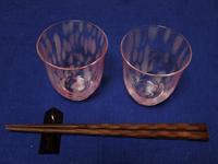 桜をイメージしたグラスです。 - ご無沙汰写真館