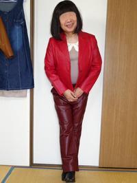 赤い純子1 - レザー純子