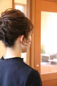ショート ヘアアレンジ 髪型 結婚式お呼ばれヘア ヘアアクセサリー さくら市 美容室エスポワール - 美容室エスポワール