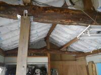 古民家:天井断熱:プラスターボード貼り:大人の隠れ家 - 古民家再生中!みずほフォーラム:不動産情報をお届けします。