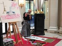 書道家Maaya Wakasugi 桜イベント パリ着付け - 着物でパリ