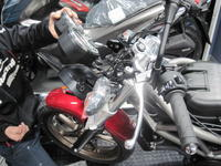 VTRが人気です - バイクの横輪