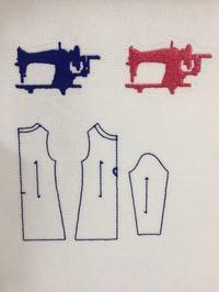 ミシンのミシン刺繍と資材 - Atelier Chou