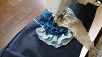 蚊帳 あじさいバッグ - 古布や麻の葉
