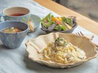 ホタテパスタの朝ごはん - 陶器通販・益子焼 雑貨手作り陶器のサイトショップ 木のねのブログ