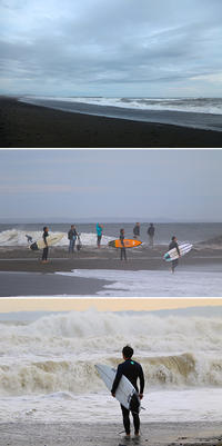 2018/04/15(SUN) 春の嵐が過ぎ去った夕方の海。 - SURF RESEARCH