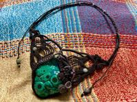 【マクラメ&ヘンプ】#183マラカイトのマクラメネックレス - Shop Gramali Rabiya (SGR)