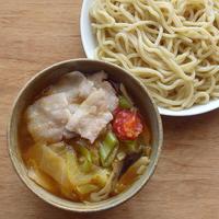 肉野菜つけ麺(「10分ラーメン選手権」に参加しました) - ツジメシ。プロダクトデザイナー、ときどき料理人