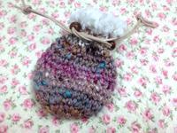 ☆編み編み・ちょっぴり大きめきんちゃく☆ - ガジャのねーさんの  空をみあげて☆ Hazle cucu ☆