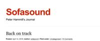 "Sofa Sound ジャーナル更新「バック・オン・トラック」 - ""Ex-ex"" Peter Hammill 日本語 情報ブログ"
